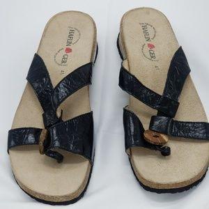 HAFLINGER Black Strappy Sandal US 10, 41 EU